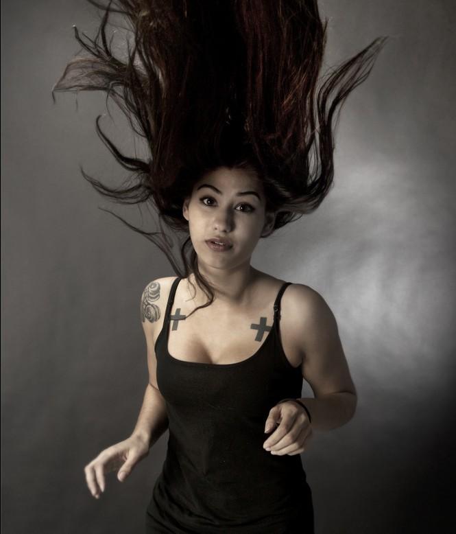 美容室のヘアーコンテスト用のスタイル写真