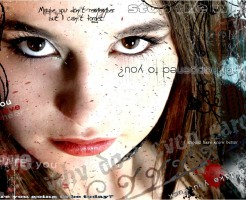美容室のポスター風な女性の画像