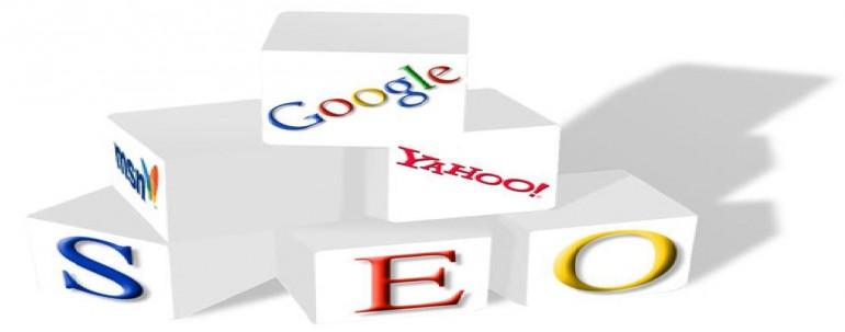 グーグル・ヤフー・SEOと書いてあるブロックが幾つも重ねてあります。