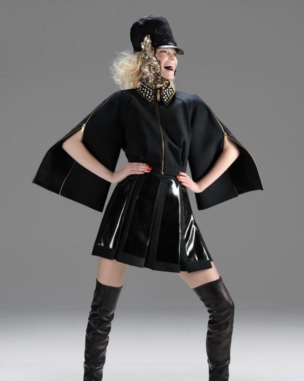 Sexy Barbora Wohlova in Gaetano Navarra Thigh High Stiletto Boots FW 2012 001